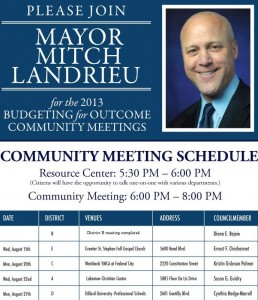 Community Meetings on the Budget