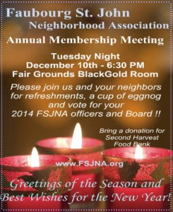 NEIGHBORHOOD MEETING DECEMBER 10th