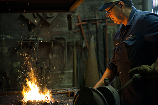 Master Blacksmith Darryl Reeves. Photo: Rush Jagoe