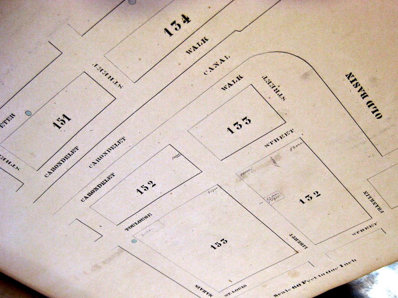 Lhote Properties from the 1873 Langermann Atlas.  Click on the map for a larger view.