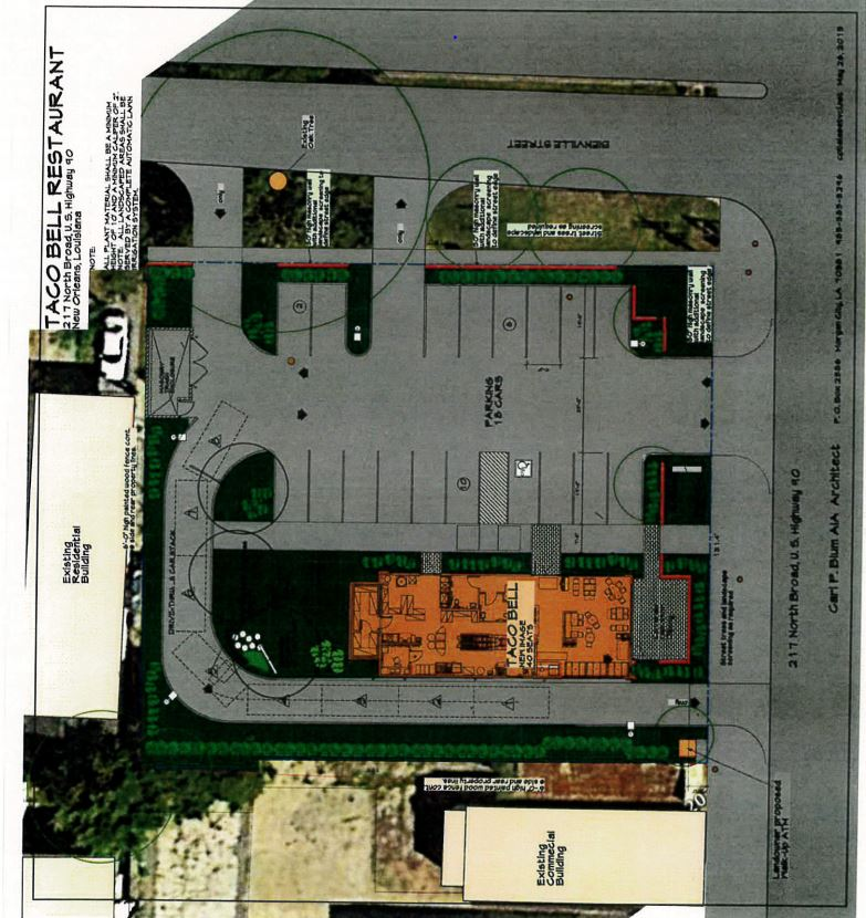 Proposed plans for a Taco Bell on Broad