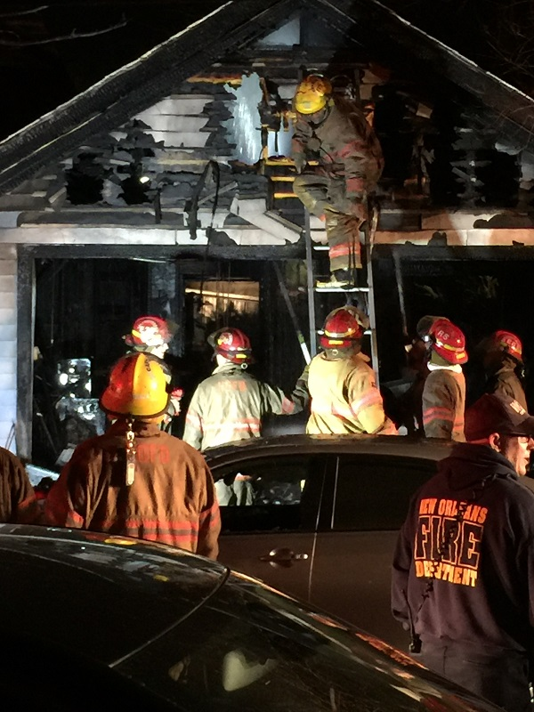 The New Orleans Fire Department quickly extinguished this garage fire on North Rendon. Click on the photo by Brenda London for a larger view.